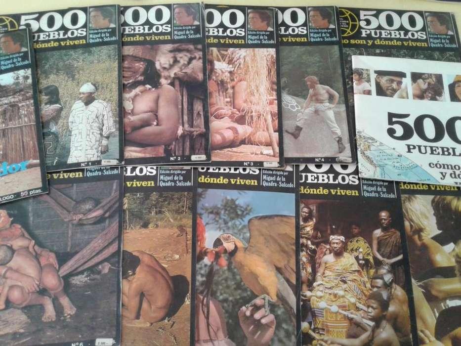 LOTE DE 11 FASCICULOS MAPAMUNDI 500 PUEBLOS