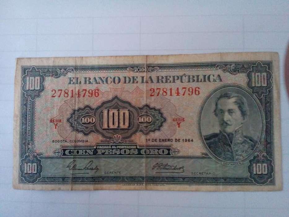 Colombia 100 Pesos 1 Enero 1964 Serie Y