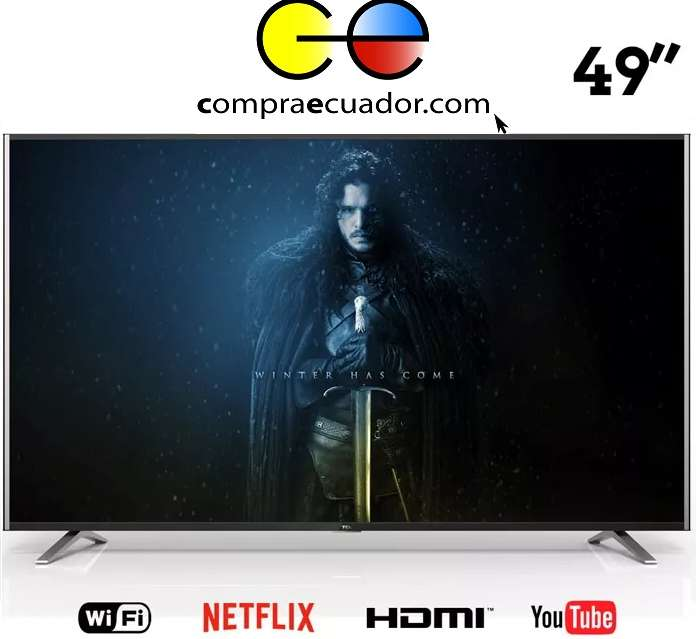 Tcl <strong>televisor</strong> Led 49 Smart Tv Android Gratis Antena Soporte