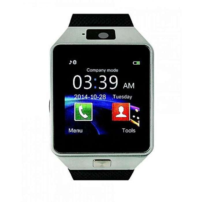 Reloj Inteligente Smartwatch Cámara Dz09 Color Plateado