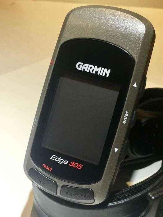 GPS GARMIN EDGE 305 CICLOCOMPUTADOR CON BANDA CARDIACA COMO NUEVO!!!