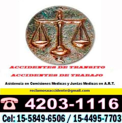 EXPERTOS EN ACCIDENTES DE TRABAJO Y ACCIDENTES DE TRANSITO. CONSULTENOS ANTES DE ACTUAR