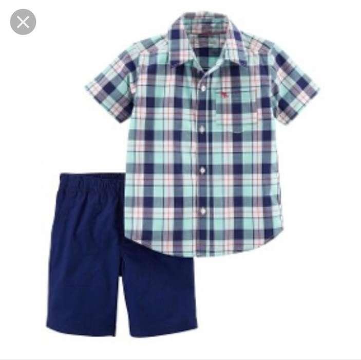 Conjunto Carter's Niño Camisa Talla 18me