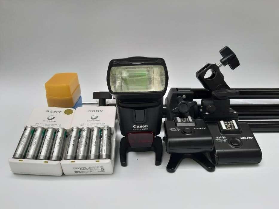 Flash Canon 430 Exll con Accesorios