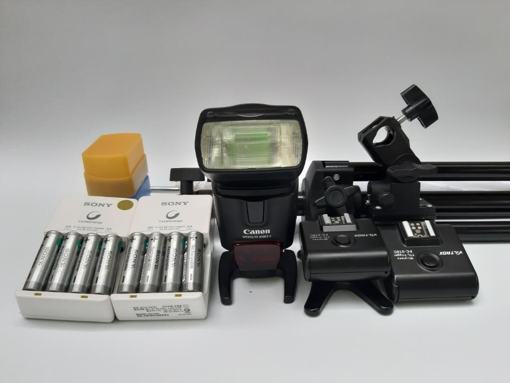 Canon Flash 430 Ex-ll  con Accesorios