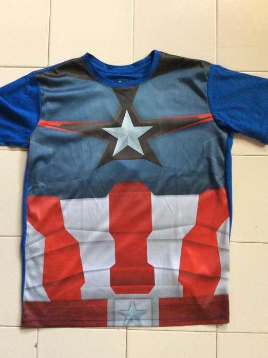 camiseta capitan america talla M envio a toda colombia servientrega
