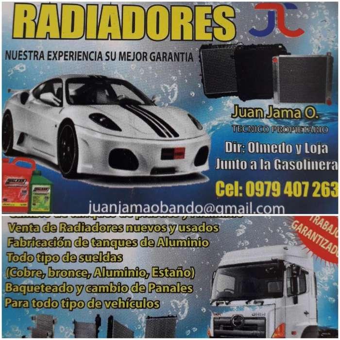 Vendo: Radiadores, Tanques, Refrigerant