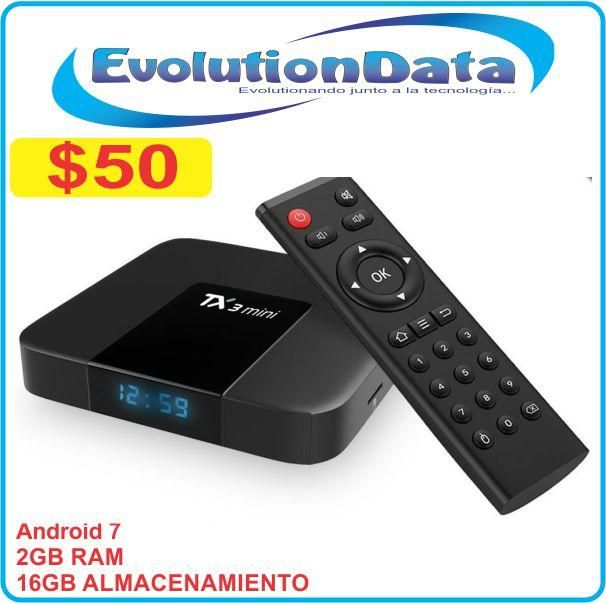 TV BOX 2GB RAM 16GB Almacenamiento Tx3 Mini Smart TV Android 7 Netflix