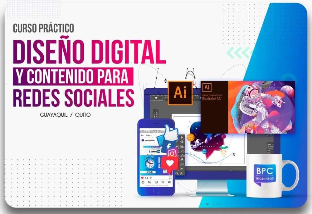 Curso de Diseño Digital y Contenido para Redes Sociales (90% Práctico) Guayaquil y Quito