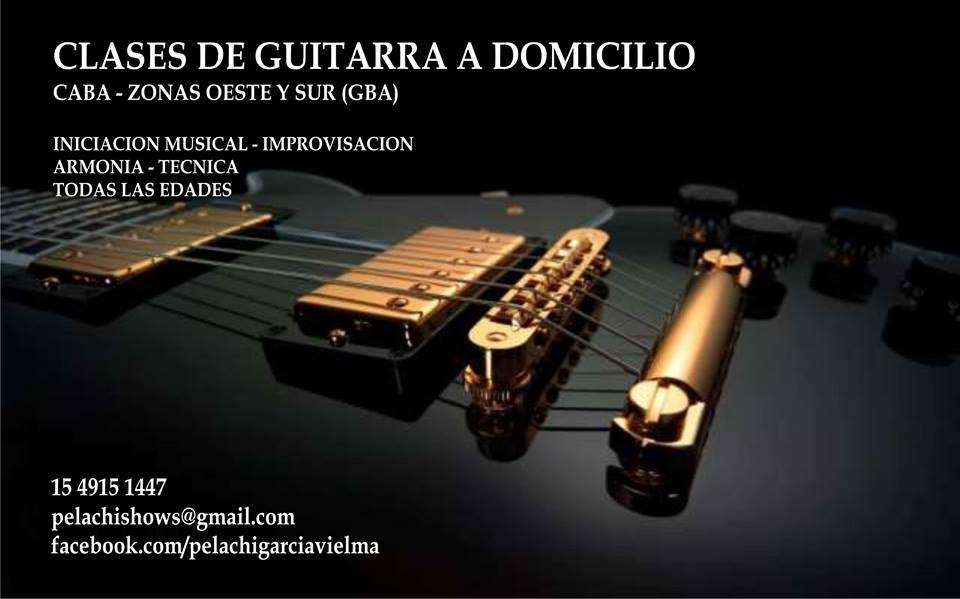 CLASES DE PARTICULARES GUITARRA A DOMICILIO RAMOS HAEDO SAN JUSTO