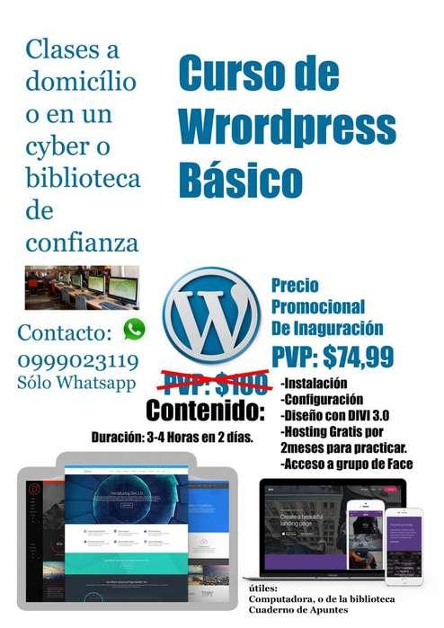 Curso de Wordpress Básico - Crea tus propias páginas web