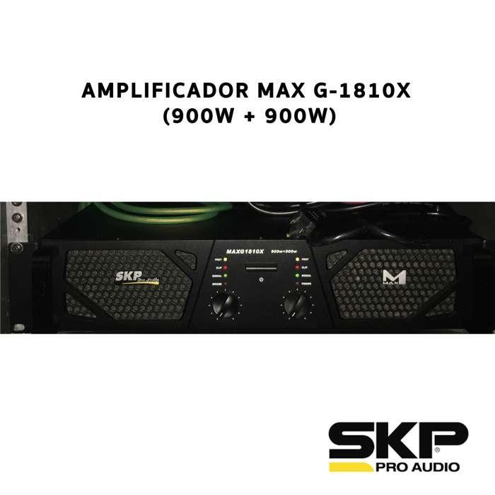 Amplificador Max G 1810x Potencia 1800w Rms Skp Pro Audio