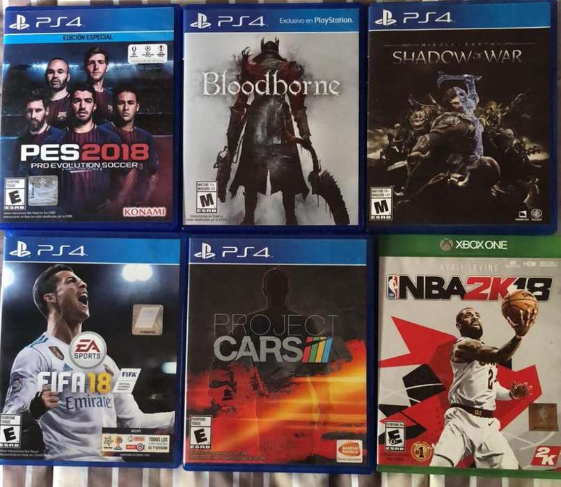 Vendo Juegos Ps4 Y Xbox One