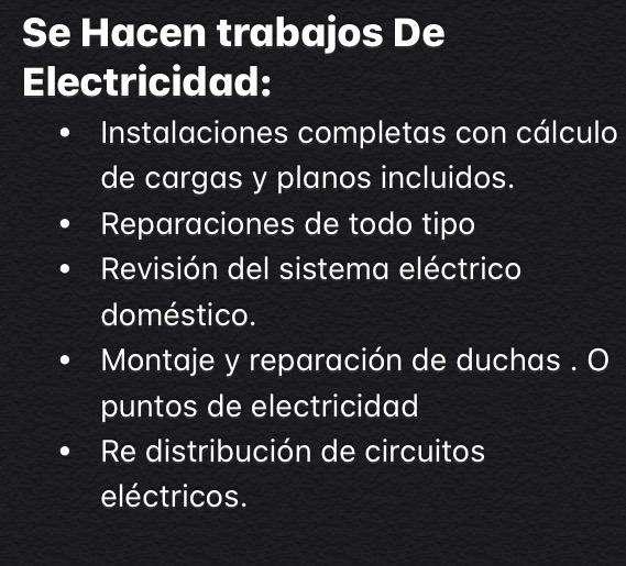 Electricista con Experiencia