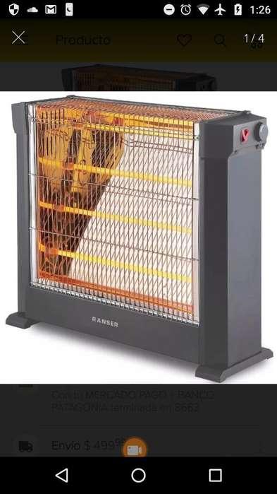 Calefactor Cuarzo Ranser 2200w sin Uso