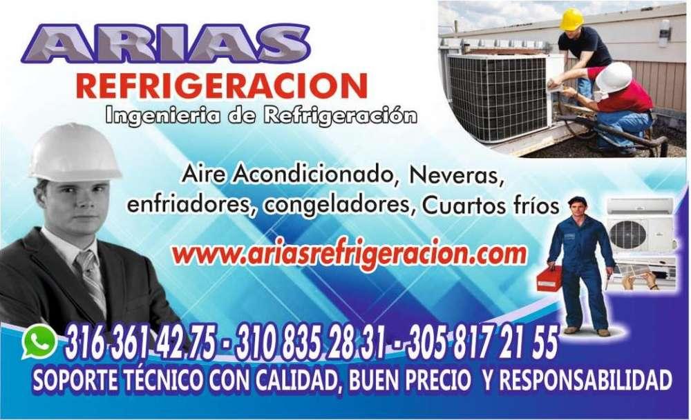 INSTALACION, MANTENIMIENTO Y REPARACIÓN DE NEVERAS, CUARTOS FRIOS, CHILLER Y AIRE ACONDICIONADO.