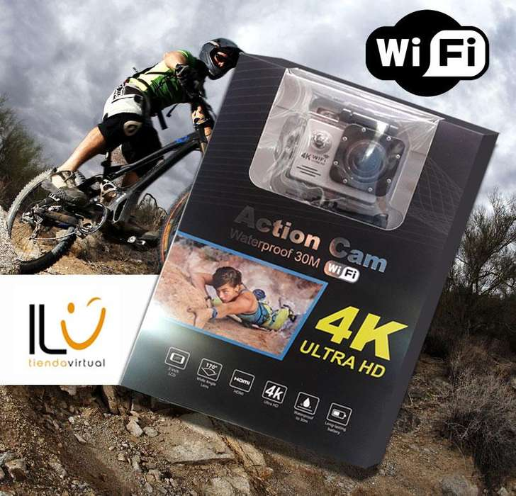 Camara Wifi Video 4k Ultra Hd 16mp Deportes Resistente Agua Tipo Gopro