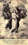 Lote de 50 Estampas Nta. Sra de Las 3 Ave Marias 1957