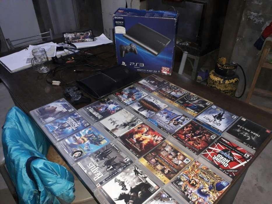 Vendo Ps3 Y 21 Juegos Originales
