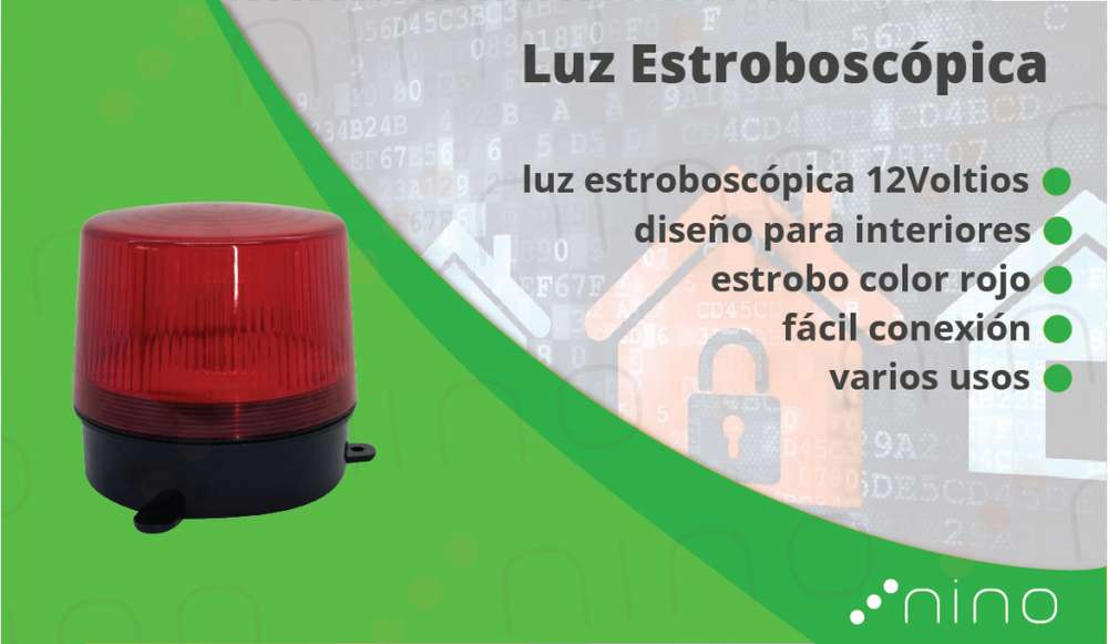 LUZ ESTROBO ADVERTENCIA ROJA