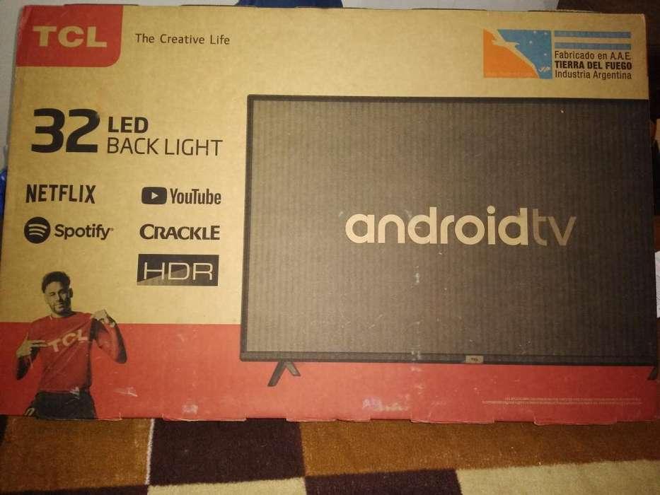 Smart Tv Led con Androidt de 32 Pulgadas
