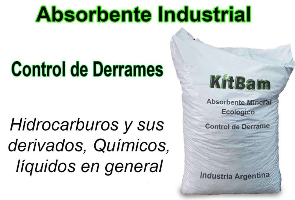 Absorbente industrial mineral Oferta x 50 bolsas 20 kg 449 c/u