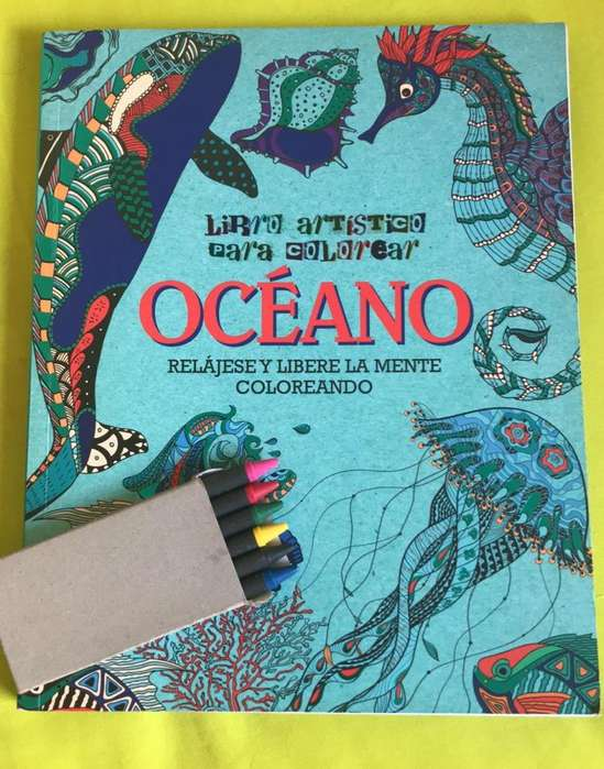 Libro grande para Colorear y Caja de Crayolas
