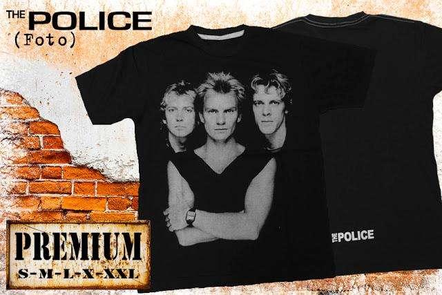 REMERA DE HOMBRE DE ROCK THE POLICE PREMIUM ¡ NUEVA !