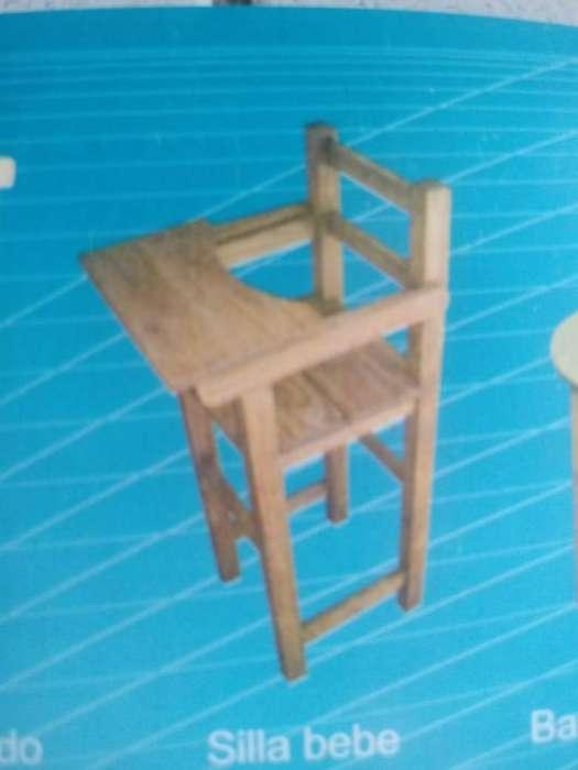 silla de bebe de madera