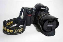NIKON D300 con lente Tamron 18 250 mm. NEGOCIABLE!