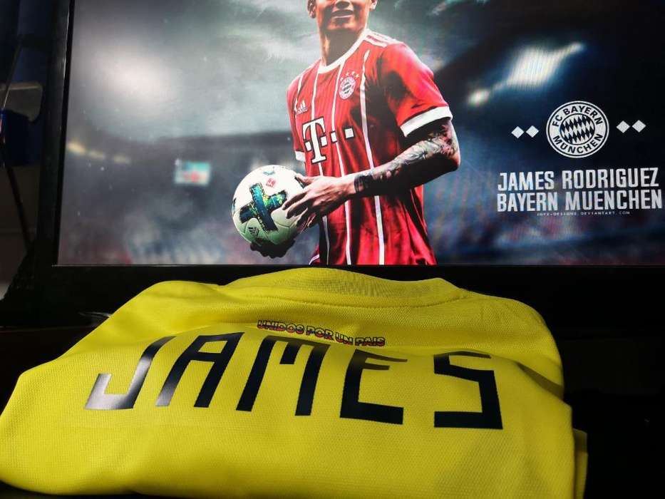 Camiseta James Selecion Colombia
