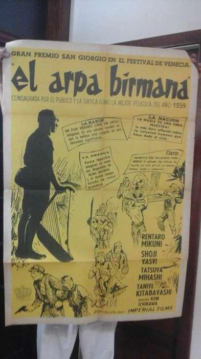 Póster Película El Arpa Birmana 1956