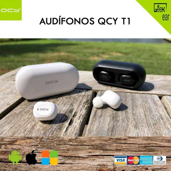Audífonos <strong>bluetooth</strong> QCY T1 Originales Bass Microfono qs1 Inalambricos No Xiaomi redmi airdots haylou airpods i12 i10