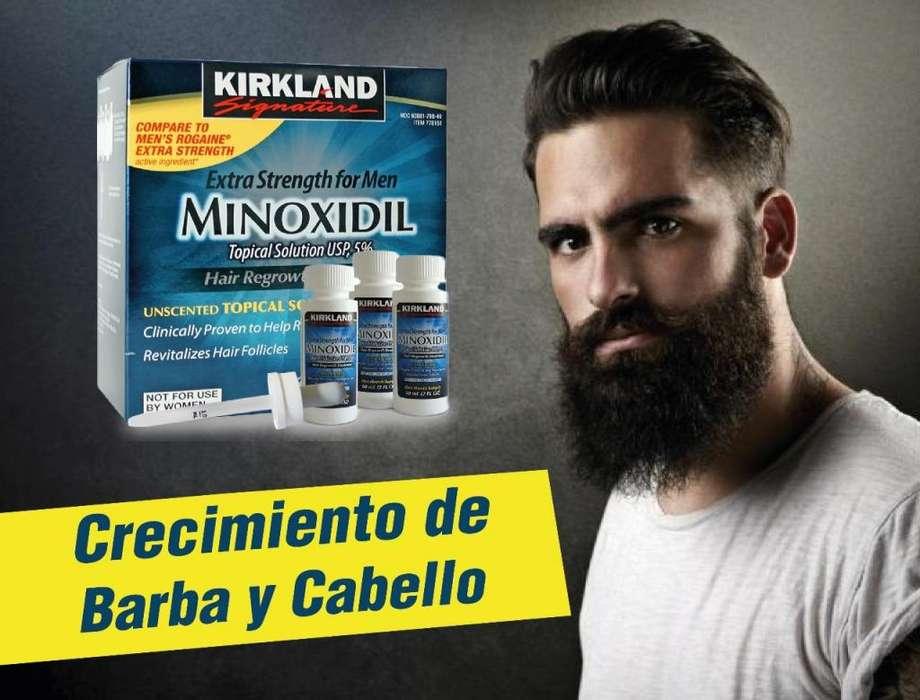 MINOXIDIL KIRKLAND / ORIGINAL / CRECIMIENTO BARBA Y CABELLO / ALOPECIA / TONICO REGENERADOR