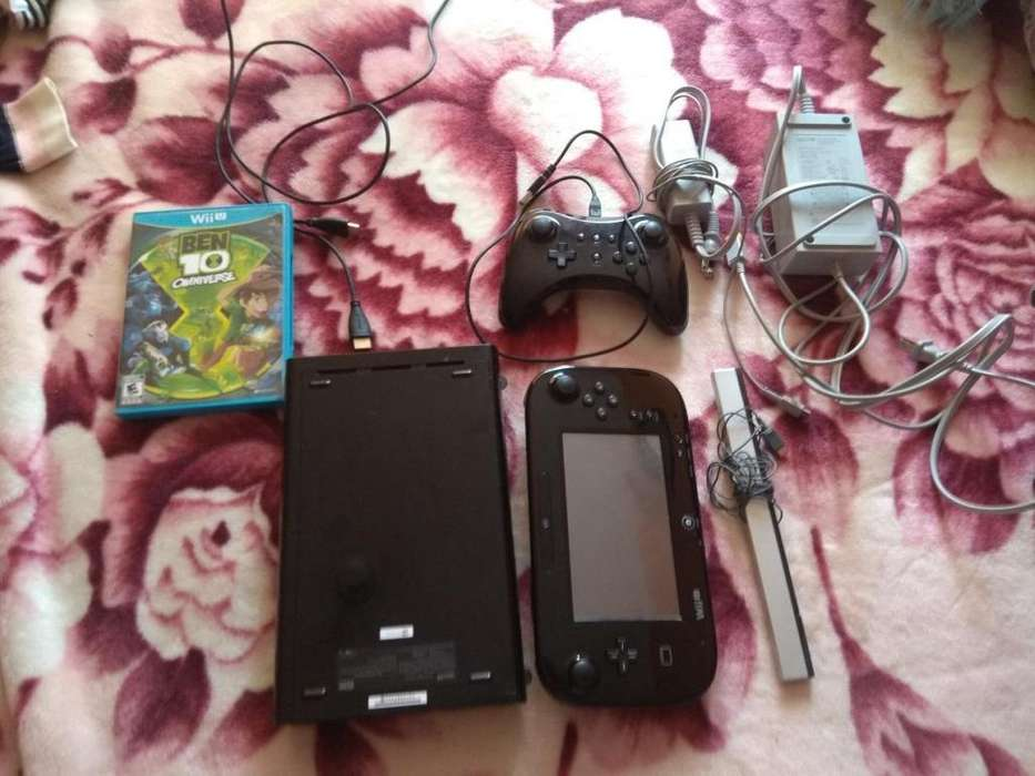 Wii U Negra 32gb 1 Juego Original 6 Digitales