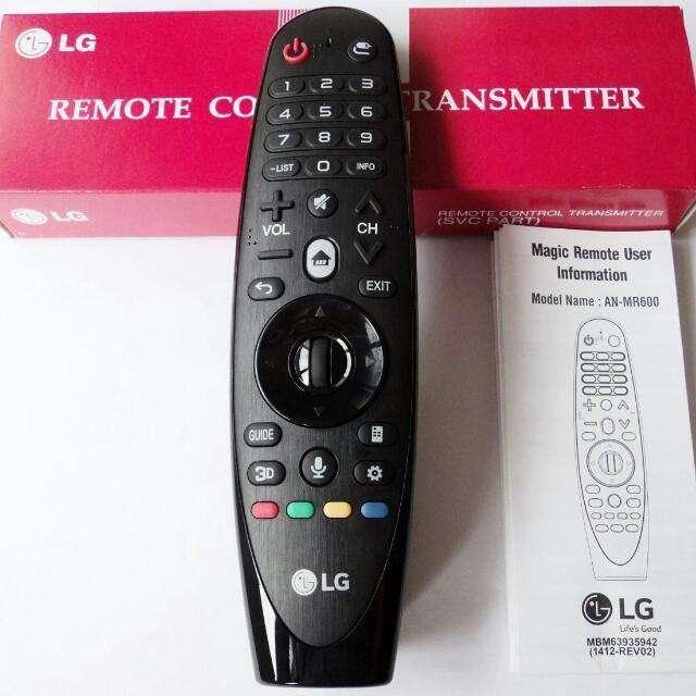 Magic Remote Control Lg An mr600 webOS 2.0 Modelo 2015