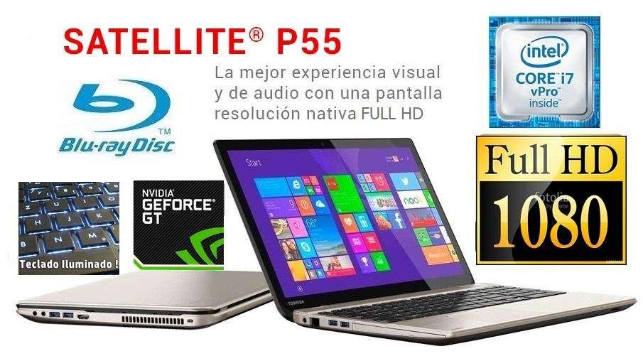 toshiba p55 core i7 3.40ghz, video nvidia, bluray, Full HD, autocad civil, lenovo, asus, hp, dell.