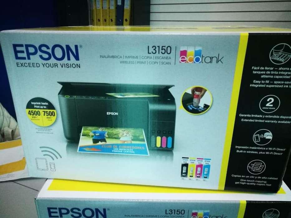 <strong>impresora</strong> Epson Ecotank L3150 Multifunción, Wifi