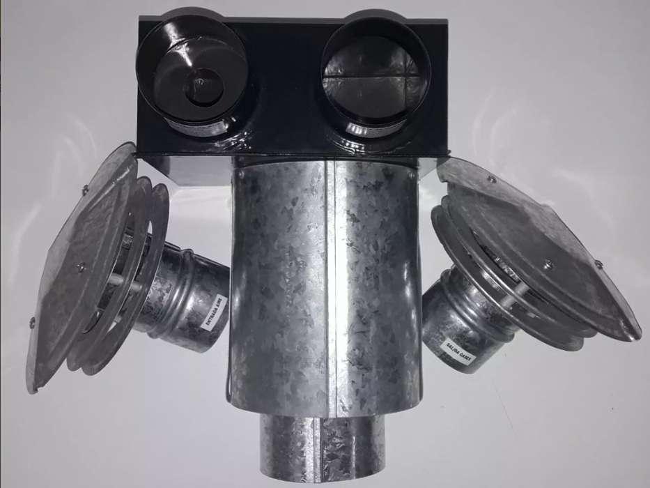 Ventilación TBU para <strong>calefactor</strong> Eskabe 5000 calorias