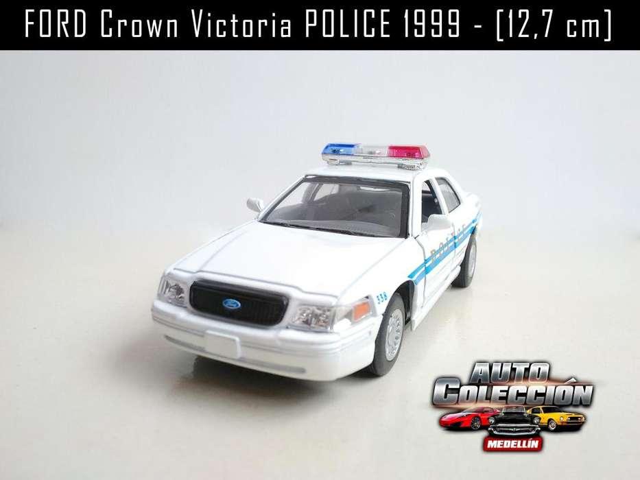 Auto de Colección FORD Crown Victoria POLICE 1999 1/42 12,7 cm