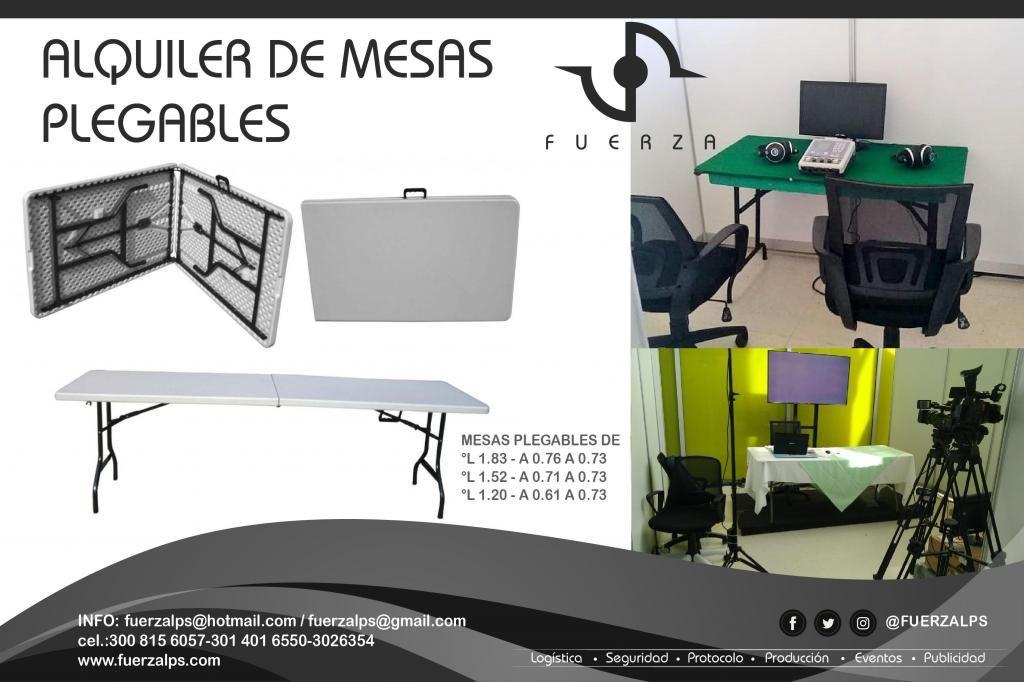 Plegables Alquiler Alquiler Mesas De Mesas Barranquilla De Plegables 345ARjL