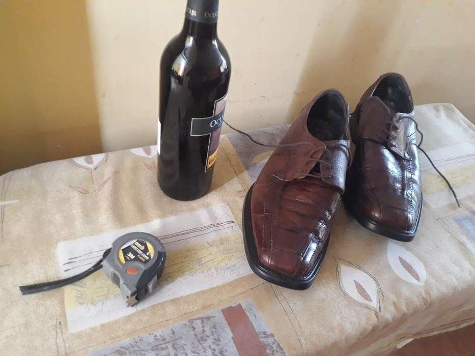 Zapatos Hombre Puro Cuero Talla 44