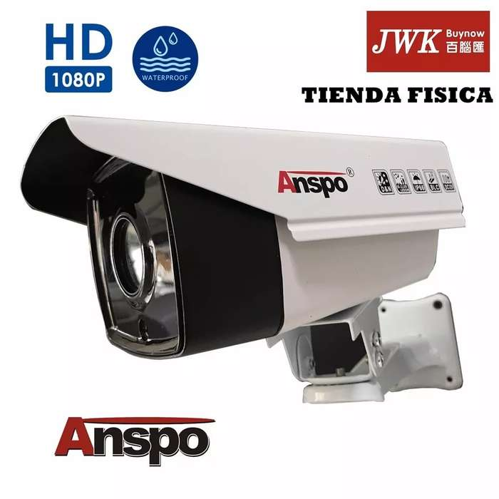 Camaras Seguridad Ahd 1080p 2.0 MP Tipo Bullet 4 Led Array Anspo