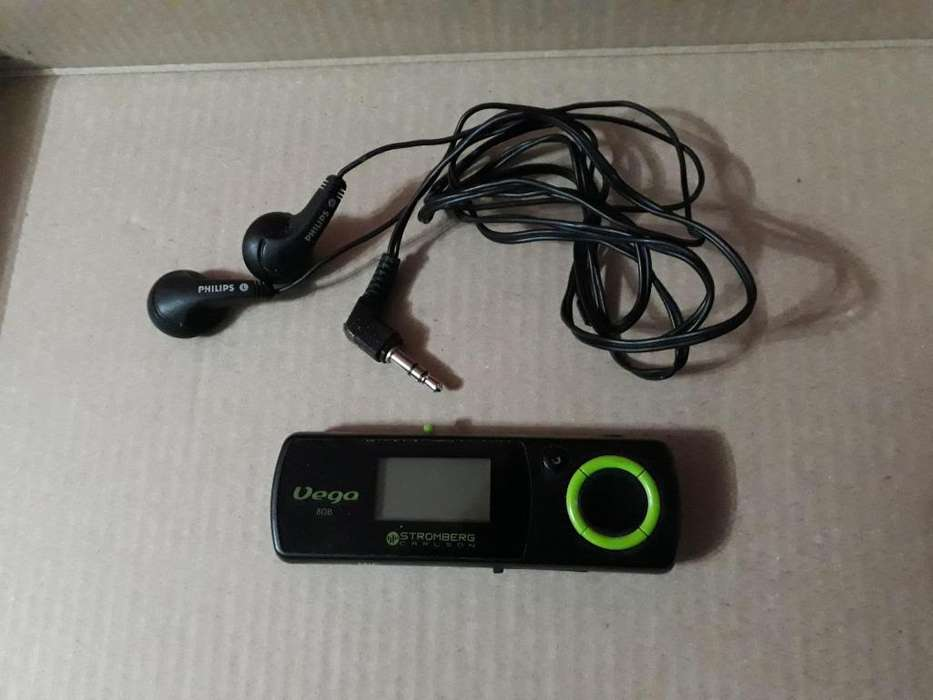REPRODUCTOR MP3 STROMBERG CARLSON 8 GB VEGA C/ AURICULARES.