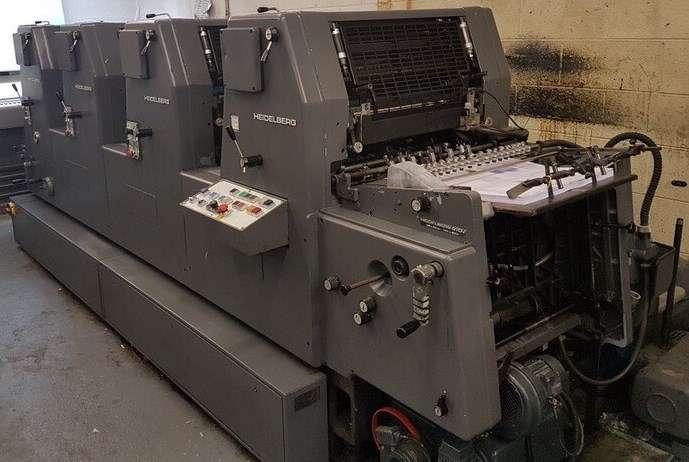 Impresora Heidelberg GTOV 52 de 4 colores Año 1990