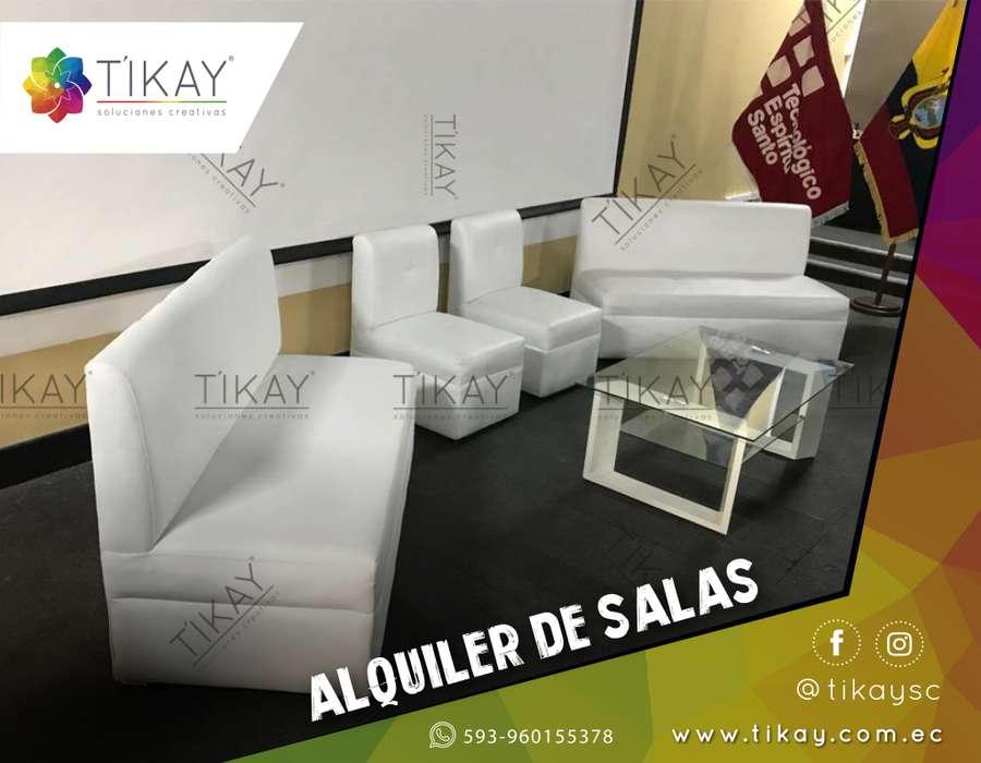 Alquileres de mobiliarios, salas Lounge, Puff, Butacas, mesa de centro, para eventos sociales y empresariales.