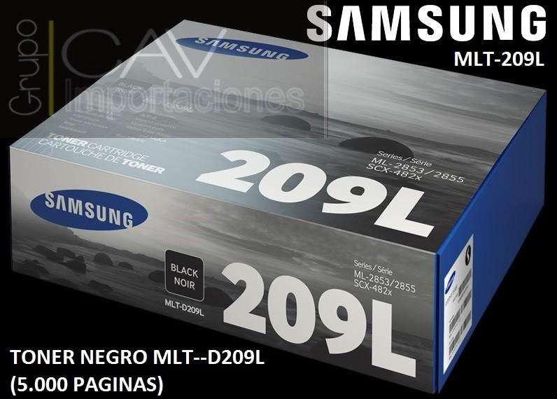 Tóner Samsung 209L Negro, 5000 Páginas MLTD209L