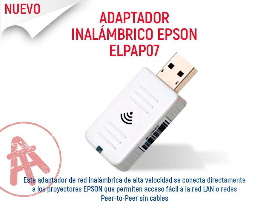 EPSON WIFI ELPAP07 PARA PROYECTORES EPSON S18 X27 S27 97H EX3220 98H 99W