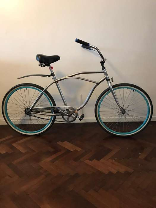 Bicicleta Playera Cromada Rodado 26