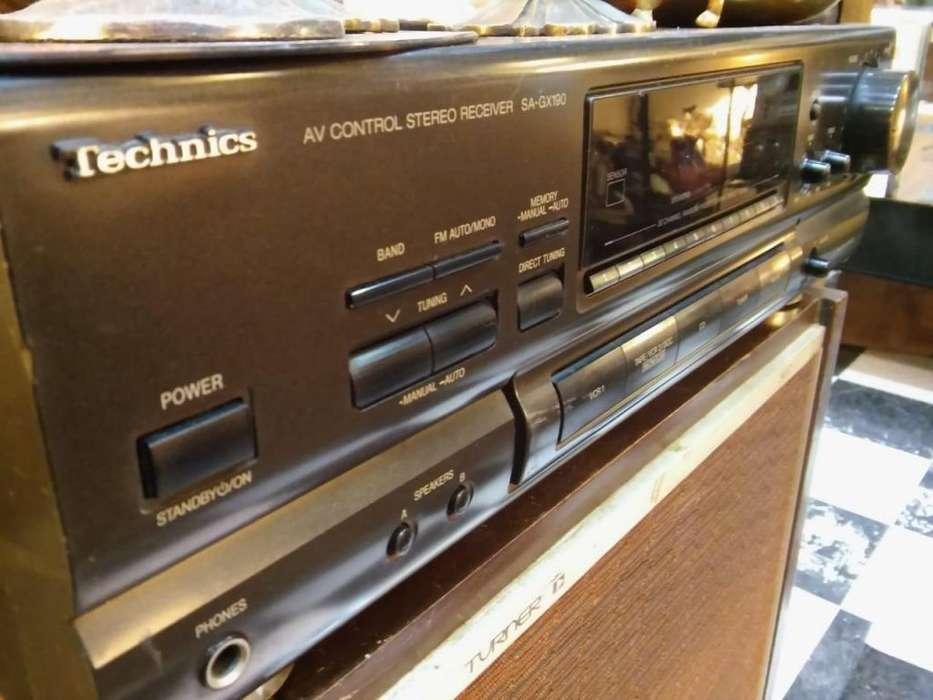 Sintoamplificador Technics SAGX170 phono 60 rms por canal